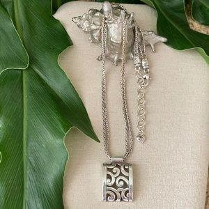 BRIGHTON Double Strand DECO LACE Pendant Necklace